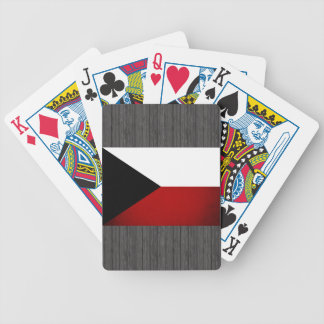 Monochrome Czech Republic Flag Bicycle Playing Cards