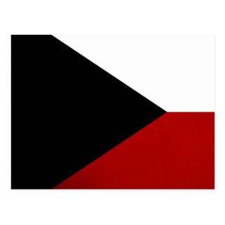 Monochrome Czech Republic Flag Postcard