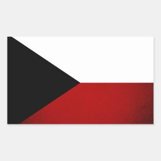 Monochrome Czech Republic Flag Rectangular Sticker