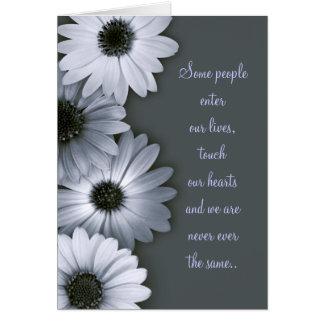 Monochrome Daisies sympathy card