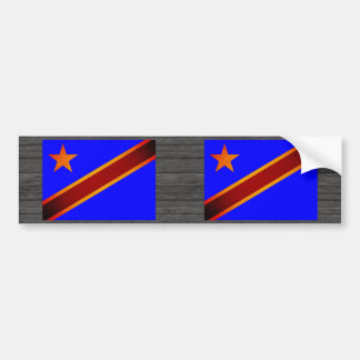 Monochrome Democratic Republic of Congo Flag Bumper Sticker