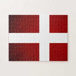 Monochrome Denmark Flag Puzzles