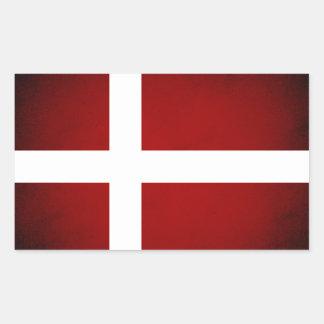 Monochrome Denmark Flag Rectangle Stickers