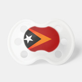 Monochrome East Timor Flag Baby Pacifiers