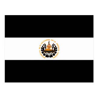 Monochrome El Salvador Flag Postcard