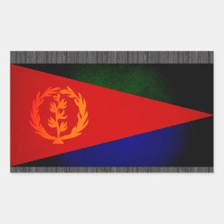 Monochrome Eritrea Flag Rectangular Sticker