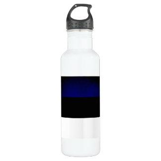 Monochrome Estonia Flag Water Bottle