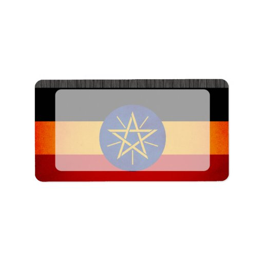 Monochrome Ethiopia Flag Address Label