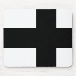 Monochrome Finland Flag Mouse Pad