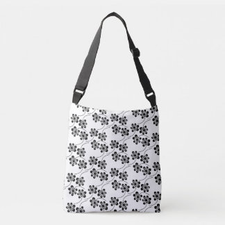 Monochrome Floral Pattern Tote Bag
