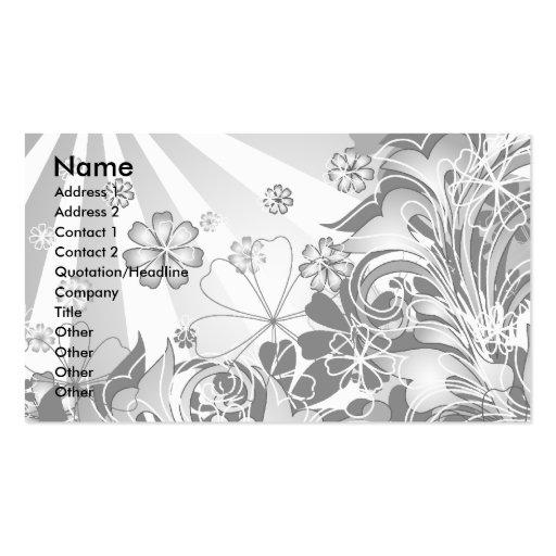 monochrome flowers_card business card