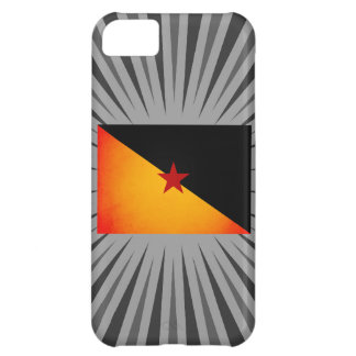 Monochrome French Guiana Flag iPhone 5C Cases