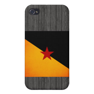 Monochrome French Guiana Flag iPhone 4/4S Cases