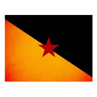 Monochrome French Guiana Flag Postcard