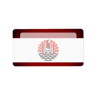Monochrome French Polynesia Flag Label