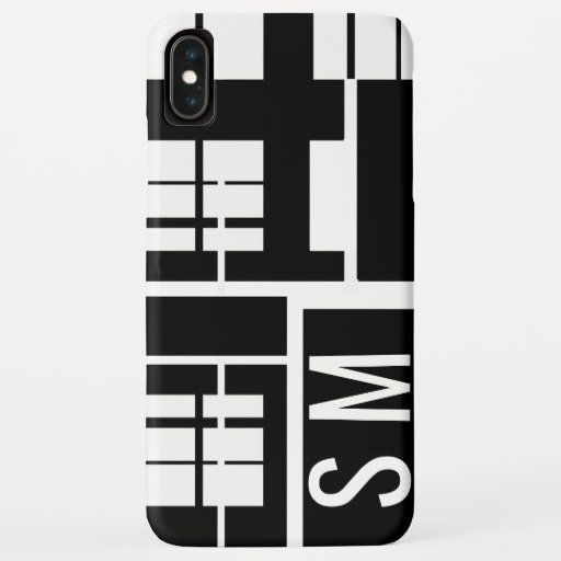Monochrome Geometric Black and White iPhone XS Max Case