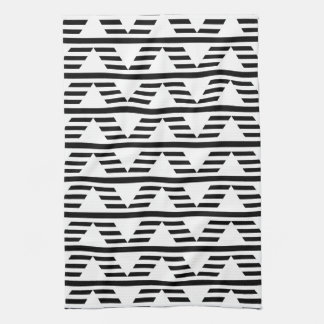 Monochrome Geometric Design. Pattern. Hand Towel