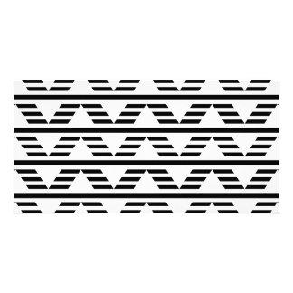 Monochrome Geometric Design. Pattern. Photo Greeting Card