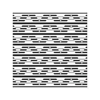 Monochrome Geometric Pattern. Gallery Wrap Canvas