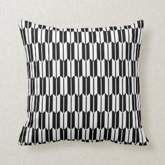 Monochrome Geometric Pattern Throw Pillow