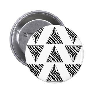 Monochrome Geometric Pattern with Zebra Stripes Buttons