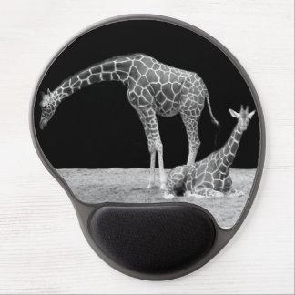 Monochrome Giraffe Gel Mousemat Gel Mouse Pad