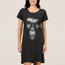 Monochrome Gorilla Face Dress