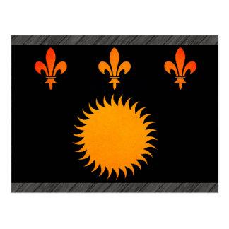 Monochrome Guadeloupe Flag Postcard
