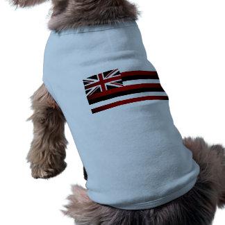 Monochrome Hawaii Flag Dog Tshirt