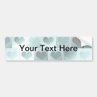 Monochrome hearts pattern bumper sticker