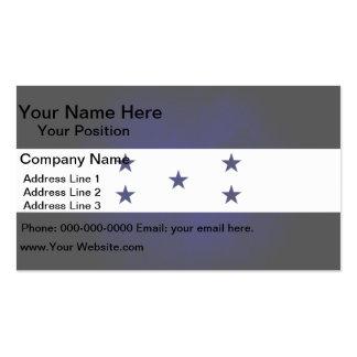 Monochrome Honduras Flag Business Card Templates