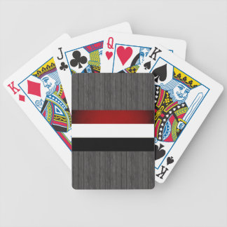 Monochrome Hungary Flag Bicycle Playing Cards