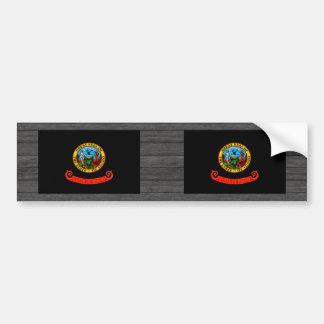 Monochrome Idaho Flag Car Bumper Sticker