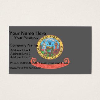Monochrome Idaho Flag Business Card