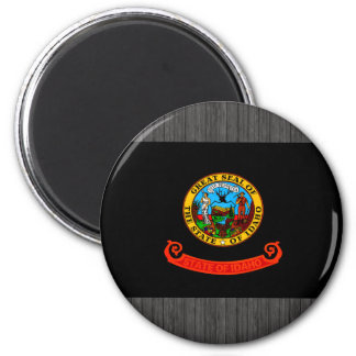 Monochrome Idaho Flag Fridge Magnets