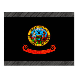 Monochrome Idaho Flag Postcard