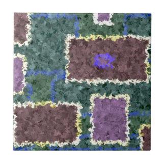 Monochrome in Green, Mauve & Cream Ceramic Tile