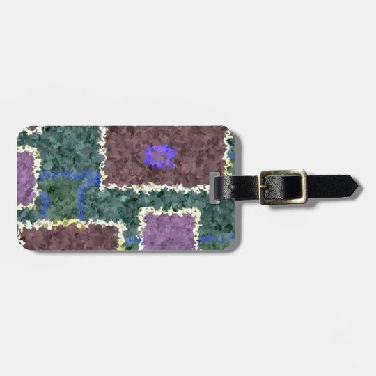 Monochrome in Green, Mauve & Cream Luggage Tag