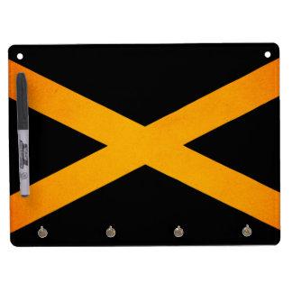 Monochrome Jamaica Flag Dry-Erase Board