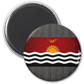 Monochrome Kiribati Flag Refrigerator Magnets