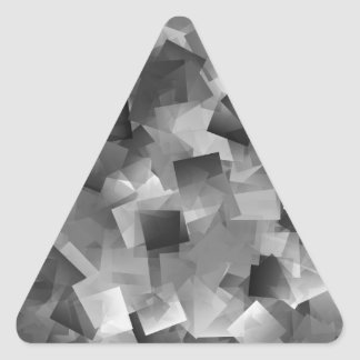 Monochrome Layers Triangle Sticker