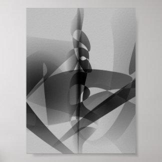 Monochrome Lilies Art Print