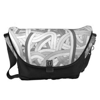 Monochrome Line Design Messenger Bags