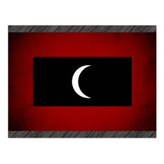 Monochrome Maldives Flag Postcard