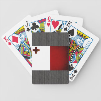 Monochrome Malta Flag Bicycle Playing Cards