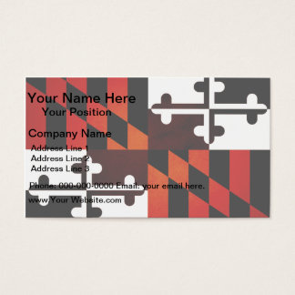 Monochrome Maryland Flag Business Card