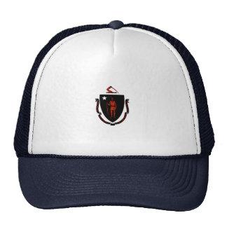 Monochrome Massachusetts Flag Hats