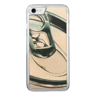 Monochrome Metalic Blue Opened Beverage Can Top Carved iPhone 7 Case