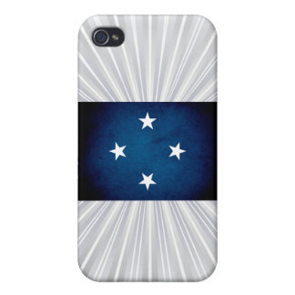 Monochrome Micronesia Flag iPhone 4/4S Covers