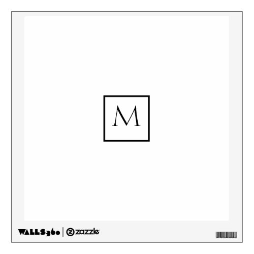Monochrome Minimalist Rectangle Monogram Wall Decal